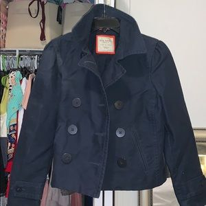 Old Navy peacoat blue buttons jacket dress coat